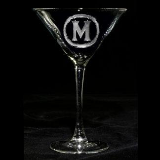Vidrio con monograma de Martini
