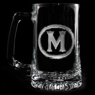 Modern Monogrammed Beer Mug