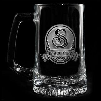 Classic Script Personalized Beer Mug