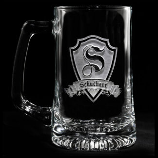 Family Crest Personalized Beer Mug