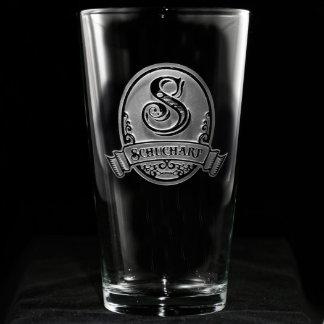 Classic Script Personalized Pint Glass