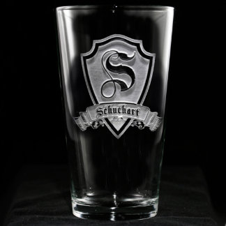 Family Crest Personalized Pint Glass