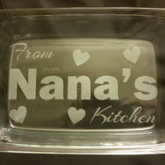 Personalized Engraved Pyrex Dish Nana's Kitchen