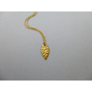 Small Arrowhead Charm Necklace