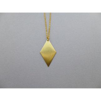Geometric Diamond Charm Necklace