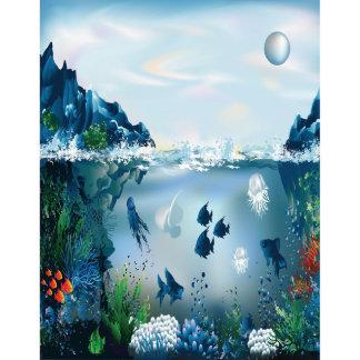 Custom Sized Window Film Art Glass DIY fish I20