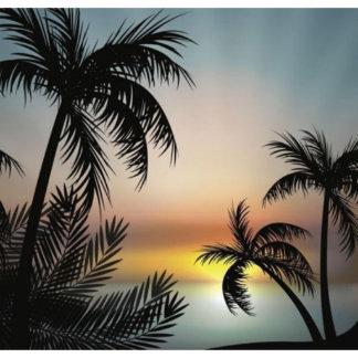Custom Window Film Glass DIY Palm Trees S-1500