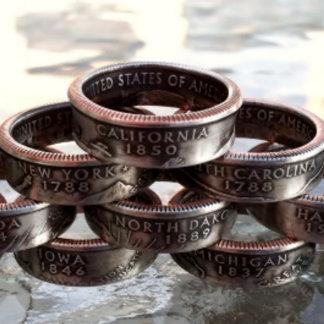 Handmade California State Quarter Ring