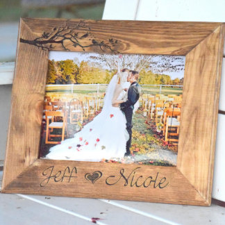 Personalized Love Birds 8x10 Wooden Picture Frame