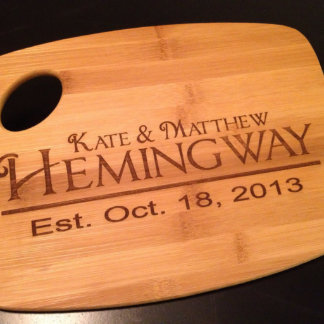 Personalized Wedding Anniversary Cutting Board