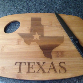 Favorite State Laser Engraved Cutting Board Bamboo