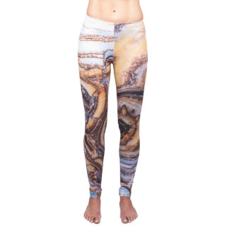 Agate Motley Healing Crystal Yoga Leggings