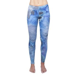 Healing Crystal Inspired Blue Yoga Leggings