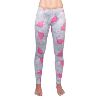 Pink Agate Healing Crystal Yoga Leggings