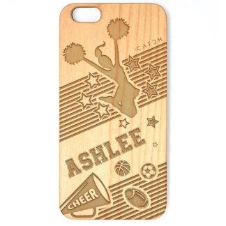 Custom iPhone Cheerleading Squad Wood Case