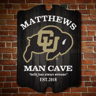 Officially Licensed Colorado CU Buffs Custom Sign