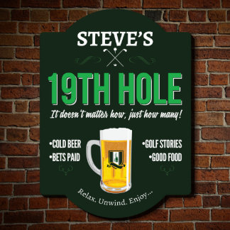 Nineteenth Hole Golf Custom Sign