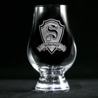 Vidrio escocés personalizado escudo de Glencairn