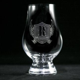 Winged Shield Personalized Glencairn Scotch Glass