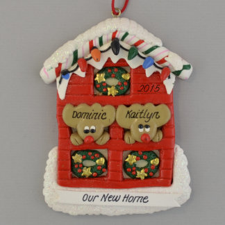 """""""Our New Home"""" Personalized Clay Dough Ornament"""