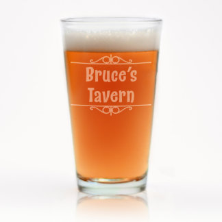Engraved Personal Bar Pint Glass