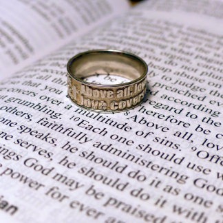 Sterling Silver Bible Verse Ring