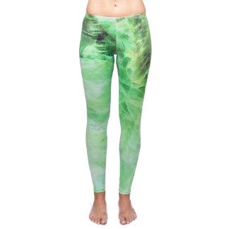 Green Onyx Healing Crystal Yoga Leggings