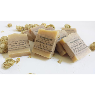 Small Spiced Lavender Soap Bar Wedding Favors