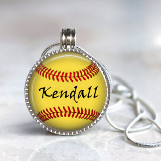 Magnetic Interchangeable Softball Pendant
