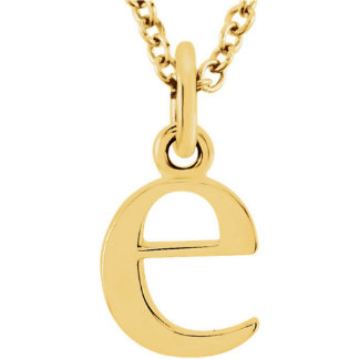 14 Karat Gold Lowercase Initial Necklace