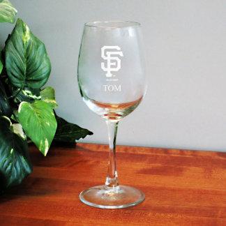 12 oz Satin Etch SF Giants MLB Wine Glass