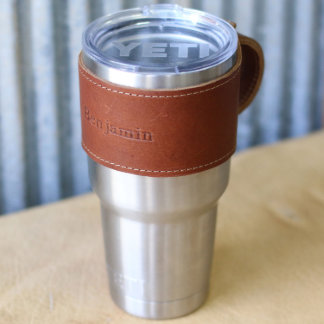 The Rocket City Leather Yeti Wrap in Brown 30 Oz