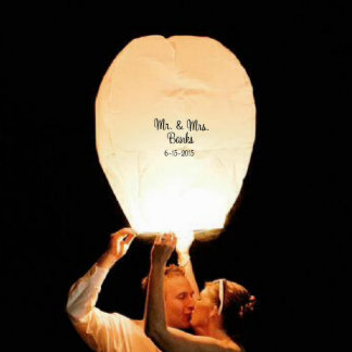 Custom Sky Lantern - White Floating Luminary