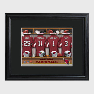 Arizona Cardinals NFL Locker Room Print w/Frame