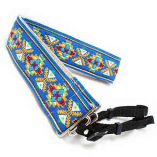 Blue Southwestern Handmade Camera Strap w/ Webbing