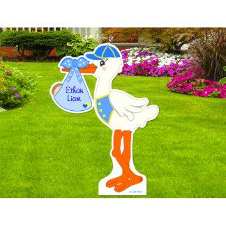 It's a Boy Lawn Stork - Die Cut Yard Sign