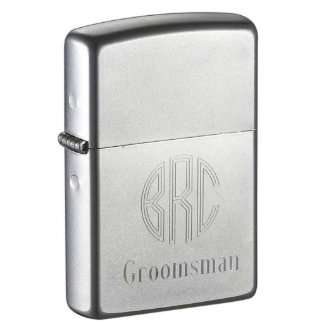 Custom Engraved Groomsman Zippo Lighter