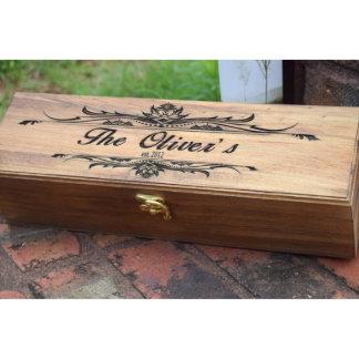 Rustic Wedding Capsule Wine Box
