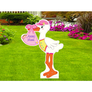 It's a Girl Lawn Stork Sign - Die Cut Sign