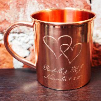 Taza de cobre de encargo del amor - 14 onzas