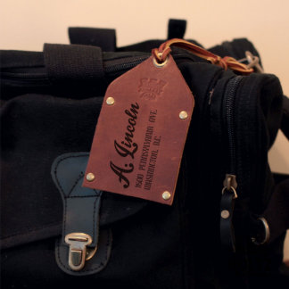 The Traveler Fine Leather Brown Luggage Tag
