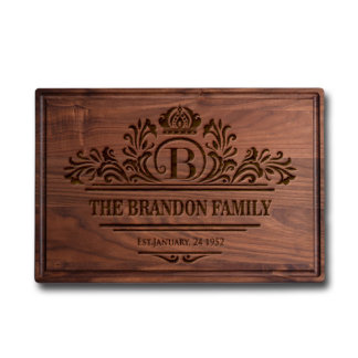 """Laser Engraved """"Family Name"""" Cutting Board"""