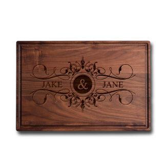 Personalized Laser Engraved Wedding Cutting Board