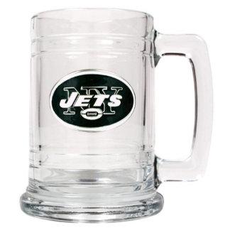 New York Jets NFL Medallion Glass Beer Mug