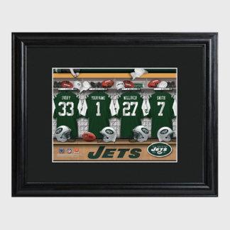 New York Jets NFL Locker Room Print w/Frame