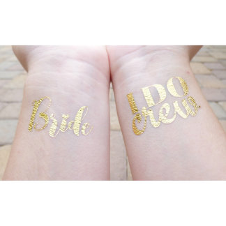 "Bachelorette Party ""I Do Crew"" Temporary Tattoos"
