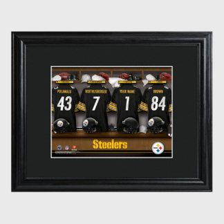 Pittsburgh Steelers NFL Locker Room Print w/Frame