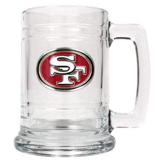San Francisco 49ers NFL Glass Beer Mug