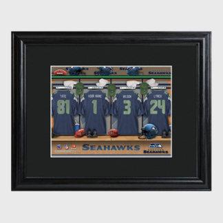 Seattle Seahawks NFL Locker Room Print w/Frame