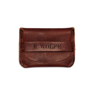 Personalized Leather Flap Wallet